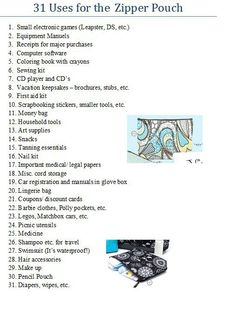 31 uses for the Thirty-One Zipper Pouch.    www.mythirtyone.com/jessicahinds