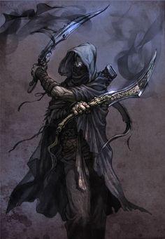 20 super ideas for fantasy art warrior character inspiration hunters Fantasy Male, Fantasy Warrior, Dark Fantasy Art, Fantasy Assassin, Fantasy Artwork, Fantasy Rpg, Medieval Fantasy, Dark Warrior, Rogue Assassin