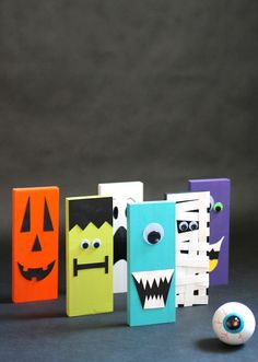 Get crafty with your kids and make these DIY Halloween Games! Creating them is half the fun!
