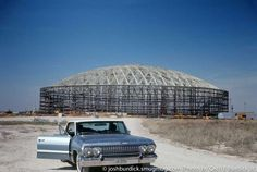 Here is Houston Astrodome under construction, early although here it looks like a scene from Breaking Bad! Houston Oilers, Houston Tx, Baseball Park, Baseball Field, Sports Stadium, Texas Stadium, Nfl Sports, Loving Texas, Texas History