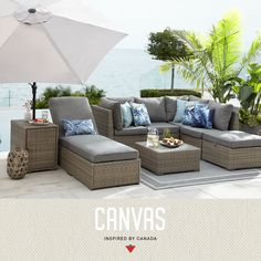 Canada has the world's longest coastline. Our patio collections are inspired by every beautiful inch, from St. John's to Vancouver Island. See the full collection. im garten videos Bala Collection by Canvas Resin Patio Furniture, Patio Furniture Cushions, Backyard Furniture, Best Outdoor Furniture, Patio Chairs, Ikea Patio, Luxury Garden Furniture, Outdoor Wicker Patio Furniture, Outside Furniture