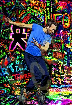 Coldplay Chris Martin Dancing on a Mylo by PolyesterCowboyProds