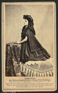 """""""Look at that hair! I was born in the wrong century!"""" The 'white' slave children of New Orleans: Images of pale mixed-race slaves used to drum up sympathy among wealthy donors in 1860s"""