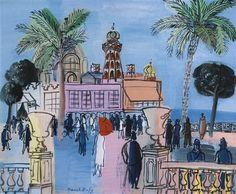 Raoul Dufy (France Le Casino de Nice aux deux vasques (c. oil on canvas 46 x cm Matisse, Art Fauvisme, Raoul Dufy, Maurice De Vlaminck, Lawrence Lee, Impressionist Art, Scenic Design, French Artists, Oeuvre D'art