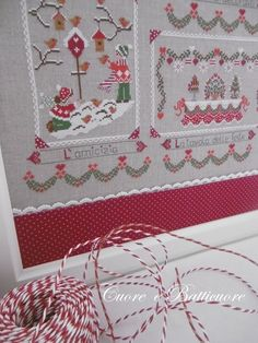 Réf. Christmas in quilt Inclus: diagramme - taille du dessin: 240x240 points Fils préconisés: DMC:...