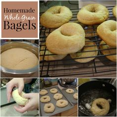 Homemade whole wheat bagels. So delicious!