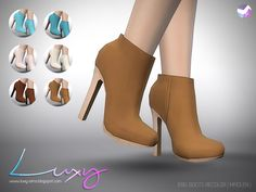 LuxySims — Eris Boots [RECOLOR] by Luxy 6 Swatches Mesh by...