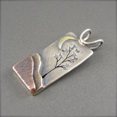 Spring Tree in the Moonlight Mixed Metal by BethMillnerJewelry, $225.00