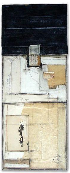 Crystal Neubauer Original Fine Art Collage Mixed Media 12 x 30 Suppose
