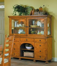 decorating above the china hutch