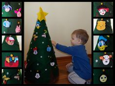 Because my boy is a Disney junior fan I made for him a Christmas tree with his favorite characteres.