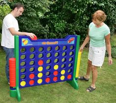 The giant connect 4 game is great for children tall enough to reach to the top, or drunk adults sober enough to count to 4. Play it indoors or outdoors, Giant Connect 4 will spice up any outdoor BBQ p...