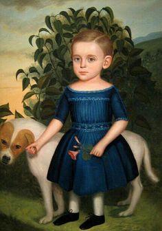 Child with Dog, 19thC, American School