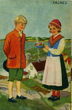Bunadskort Falnes Erling Nielsen 1940-tallet Norsk arbeide