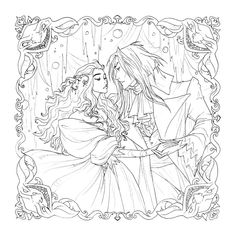Since I have no idea when I'll get around to coloring this piece, I thought in the meantime it might be fun to release the linework as a digital colorin. Labyrinth Digital Coloring Page Labyrinth Film, Labyrinth Quotes, Disney Stained Glass, Pixar, Goblin King, Sarah And Jareth, Muse Art, Tonne, Cartoon As Anime