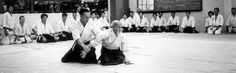 The Founder of Aikido demonstrating real power comes from relaxing completely and not reacting to a situation.