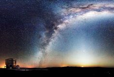 The Milky Way and moonrise over ESO's Paranal observatory