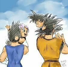 Dragon Ball Z - Vegeta, Trunks, Goku, & Goten Dragon Ball Z, Pretty Cure, Totoro, Vegeta Y Trunks, Akira, Manga Anime, Otaku, Manga Games, Kawaii Anime