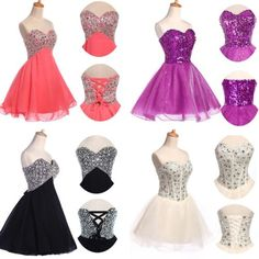 New Short Mini Formal Prom Dress Cocktail Ball Evening Party Dresses Homecoming | eBay