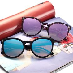 c52f873519c Summer Women Retro Cat Eye Sunglasses Outdoor Casual Colorful Anti-UV  Eyeglasses is hot sale at NewChic