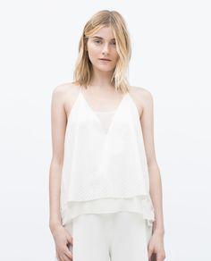 FAUX SUEDE DOUBLE LAYER TOP - View all - Tops - WOMAN | ZARA Turkey