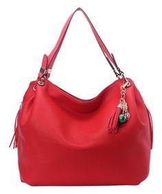 Look at this #zulilyfind! Red Tassel Hobo #zulilyfinds