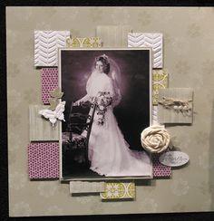 Ideas Wedding Card Design Layout Scrapbook Pages Heritage Scrapbook Pages, Wedding Scrapbook Pages, Birthday Scrapbook, Vintage Scrapbook, Scrapbook Paper Crafts, Scrapbook Supplies, Scrapbooking Layouts, Scrapbook Cards, Scrapbook Designs