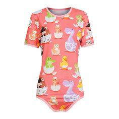 eef71bb0e Baby Animals Snap Crotch Onesie Abdl Onesie