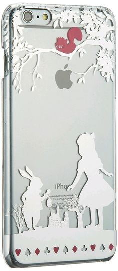 Cell Phone Cases - Disney Alice Plus Iphone Clear Hard Case Cover Japan