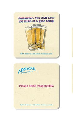 new Adnam's ID. Totally stole this coaster from the pub in Colchester xD