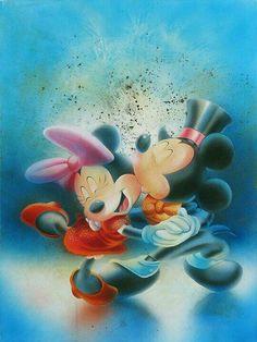 Mickey e Minnie dançando