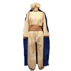Prince Ali Costume Disney Movie Prestige Edition Aladdin Cosplay Outfits For Adult Kids.Package includes: Hat, Cloak, Top, Pants, Belt. Fabric: Polyester and Uniform,Satin.