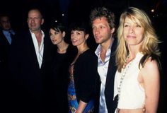 Bruce Willis, Demi Moore, Annabella Sciorra, Jon Bon Jovi, & Dorothea Bongiovi