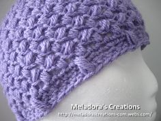 Bean Stitch Beanie (All sizes)- Free Crochet Pattern - Meladora's Creations