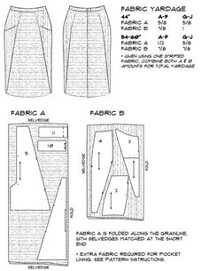 More Cutting Layouts for A-Frame — Blueprints For Sewing: