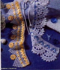 Barrado com Fitas http://barradosdecroche.blogspot.com.br/