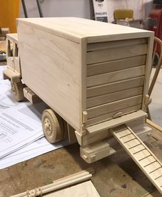 Your place to buy and sell all things handmade Wooden Toy Trucks, Wooden Toys, Woodworking Workshop, Woodworking Projects, Wheelbarrow Planter, Wooden Board Games, Diy Toys, Children's Toys, Wood Toys Plans