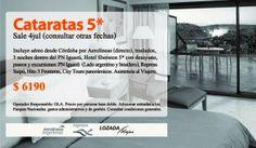Viajá a las Cataratas en julio, tenemos 3 propuestas clásicas + las que podemos crear a tu medida:  t.: (351) 4230903  m.viajes@lozadaviajes.com