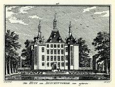 Abraham de Haen (tek.), Hendrik Spilman (grav.), Het Huis van Duivenvoorde van agteren