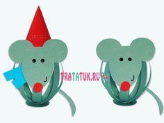 Мышка из полосок бумаги