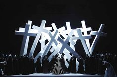 Don Carlo from Opernhaus Zürich. Production by Sven-Eric Bechtolf. Sets by Rolf Glittenberg.