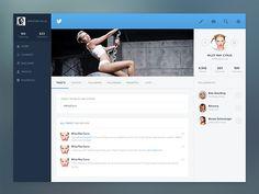 Twitter profile concept Original: http://ift.tt/1dnWwLK