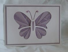 handmade card: Iris Folded Butterfly  ... clean and simple ... purples ...