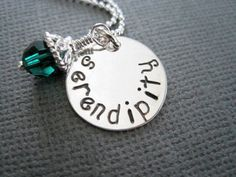 Serendipity handstamped sterling silver necklace by marybeadz, $30.00