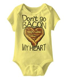 Banana 'Don't Go Bacon My Heart' Bodysuit - Infant #zulily #zulilyfinds