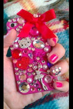 dyi jeweled phone case