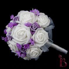 Small wedding bouquet - bridesmaid or throw bouquet in lavender. $35.00, via Etsy.