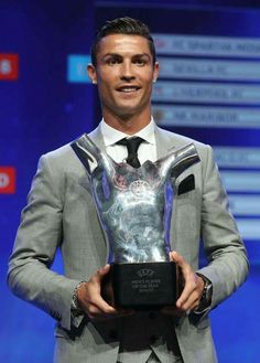Men´s Player of the Year 2016 / 17 Cristiano Ronaldo Portuguese footballer.  27.8. 2017,  www.netkaup.is  NCO eCommerce, IoT  www.nco.is