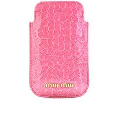 Perfect color! Miu Miu leather Iphone case