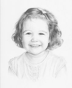 Pencil portrait of a child in graphite pencil on paper. Click the picture or the 'read it' button above to see the pencil portrait gallery